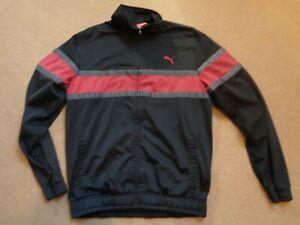 PUMA vintage track top track suit zip up black size Medium