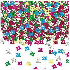 Confettis de table 21 ans à fêter Sachet de 14gr multicolores  decoration fete