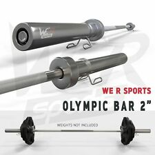 Olympic Barbell Bar Weight Lifting Barbell Bar With Spring Collar Gym Fitness