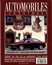 AUTOMOBILES CLASSIQUES n°38 07/1990 BMW 850i FERRARI 166MM