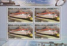 AEROTRAIN I80-250 HV (Hovertrain) Experimental Train Stamp Sheet (2012 Burundi)