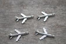 40pcs- Airplane Charms silver Mini Aircraft plane charm pendants 22x15mm