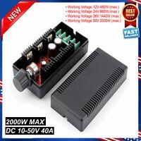 12V 24V 48V 40A 10-50V DC Motor Speed Control PWM HHO RC Controller 2000W MAX US