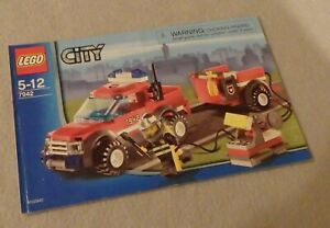 LEGO CITY Instruction Manual Only #7942 On-Road Fire Rescue