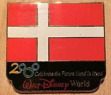 Millennium Village WDW Flag Pin Denmark Pavilion 2000 Disney Pin