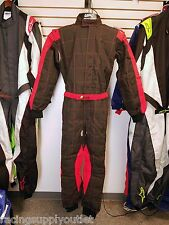 Sparco/Lico  Go Kart Racing Suit FIA  Black/Red  Size  Small  [In the USA]