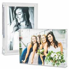 5X7 Acrylic Picture Photo Frame Holder Heavy Clear Portrait or Landscape Style