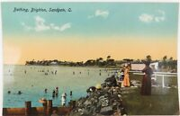 .SUPERB UNUSED GLOSS COLOUR EARLY 1900'S POSTCARD SANDGATE, QLD. RETRAC SERIES