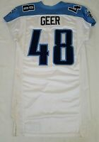 #48 Geer of Tennessee Titans NFL Locker Room Game Issued Player Worn Jersey