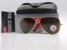 ⁹Ray-Ban⁹ Aviator RB3025 001/57 Gold Frame Brown Polarized Lens 58mm BRAND NEW!