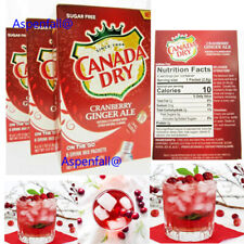 Canada Dry Cranberry Ginger Ale Drink Mix ( Sugar Free~ Lot of 3~6 Pkts Per Box