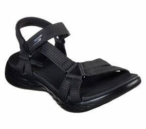 Skechers Womens Sandals ON-THE-GO 600 BRILLIANCY Sandalen Damen Schuhe Schwarz