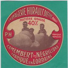 K495 FROMAGE CAMEMBERT NEGRILLONS HURAULT DIEPPE MEUSE FOND BLANC