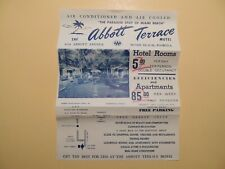 Abbott Terrace Motel Miami Beach Florida vintage brochure 1950's