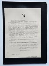 CLAMAGERAN Roberty Demassieux FAIRE PART Trocqueme CARBON FERRIERES Rouen 1886