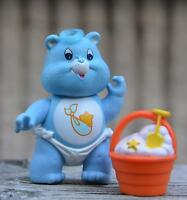 Vintage Poseable CARE BEAR Figure 1984 Kenner BABY TUGS Toy Accessory Complete