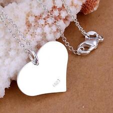 China Wholesale 925 Silver Filled Heart Brand Necklace Fine Fashion Jewellery