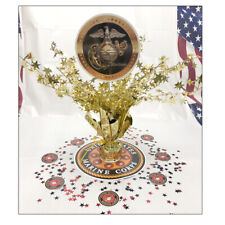 US Marines Party Supplies MARINE CORPS GOLD MEDALLION CENTERPIECE DECORATING KIT
