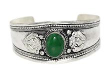 Jade Bracelet Cuff Bracelet Tibetan Bracelet Boho Bracelet Tribal Yoga Gypsy