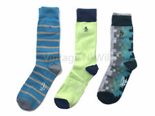Original Penguin Men 7-12 Check Stripe Puzzle Crew Dress Sock Gift Box - 3 Pack