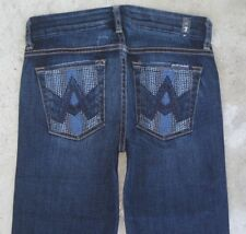 7 for all Mankind Womens Jeans A Pocket Bootcut Sz 24  w Beaded Pockets