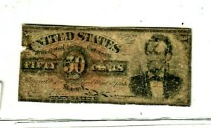"50 CENT ""FR-1374"" (ABRAHAM LINCOLN) 1800'S  FR-1374  (ABRAHAM LINCOLN) 1800'S"