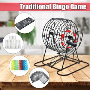 Bingo Game Set Traditional Bingo Lotto Lottery Family Cage Ball Card Counter Kit