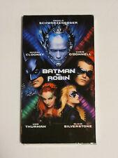 BATMAN & ROBIN - VHS 1997 - Uma Thurman Arnold Swarzenegger George Clooney +