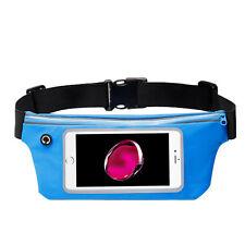 Sky Blue Sports Activity Waist Pack Pocket Belt for iPhone 7 Plus, iPhone 7/ 8