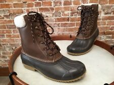 London Fog Cognac Brown Wonder 2 Rain Winter Duck Boots 9 New