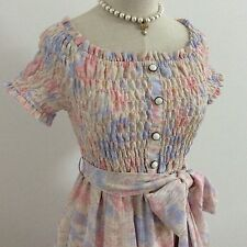 LIZ LISA Dress Shirring Off the Shoulder Flower Kawaii Japan Gyaru Fashion#13357