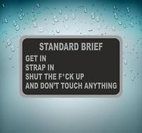 Sticker decal car airplane aircraft airport pilot standart brief