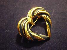 Brosche Gold farben ; Herz- form ; Srass