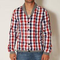VSCT Clubwear Deep Collar Shirt Hemd rot kariert Dayshirt Langarm Party red karo