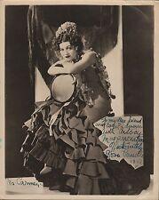 "ROSA PONSELLE - US Soprano as ""Carmen"" - Original Handsigned B/W Photo - 1951"