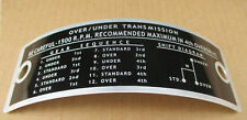 SHERMAN TRANSMISSION PLATE FOR FORD TRANS NAA NAB