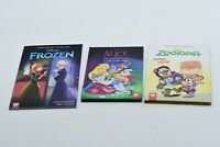 Disney 3 BOOK LOT - Frozen, Zootopia, Alice in Wonderland - FREE FAST SHIP