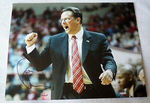 Indiana Hoosiers Head Coach Tom Crean Signed 11x14 Photo Auto