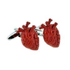 Anatomical Heart Novelty Cufflinks Red Doctor Surgeon Goth Wedding Xmas Cuff Lin