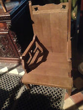 pugin victorian oak chair church papal bishop throne pew cathedra 19th CENTURY1