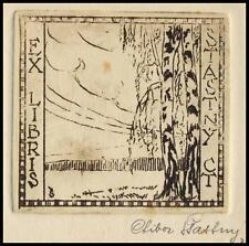 Stastny Ctibor C3 Exlibris 1932 Bookplate Tree Baum Flora 1479