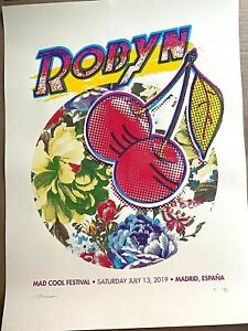 ROBYN Mad Cool Festival MADRID SPAIN 2019 SCREEN PRINT CONCERT POSTER SIGNED AP