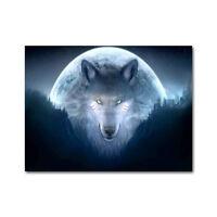 Wolf Highlands Wild Nature Animals Silk Cloth Poster 13x18 inches Decor 001