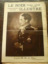 Le Soir Illustré - Léopold III, Roi des Belges - Numéro Spécial - 02/1934