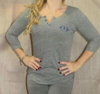Junk Food Indianapolis Colts Women's Graphic Henley 3/4 Sleeve T Shirt, S, EUC