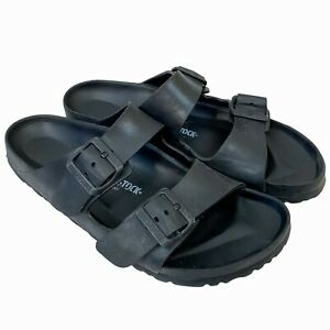 """Birkenstock Men's Black Vegan """"Arizona Essentials"""" Sandals Size 41 US 8 - 8.5"""