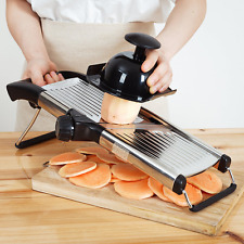 Adjustable Stainless Steel Mandoline Slicer- Vegetable Slicer- Potato Slicer- To