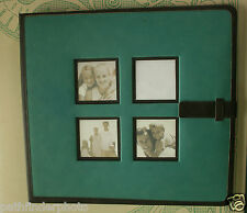 TEAL & BROWN POST BOUND SCRAPBOOK PHOTOGRAPHY ALBUM LEATHER PHOTO INSERT COVER