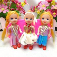mini juguete muñeca Bonita niña regalo para navidad con vestido accesorio bien