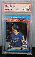 1979 TOPPS # 121 Rick LaPointe PSA 8 NM-MT - PSA # 24983924  St. LOUIS BLUES !!!